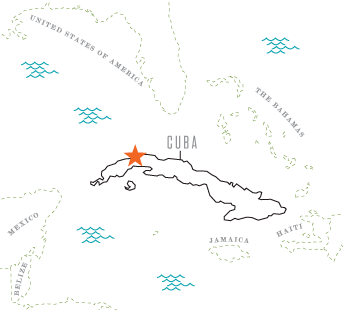 Map of Havana, Cuba