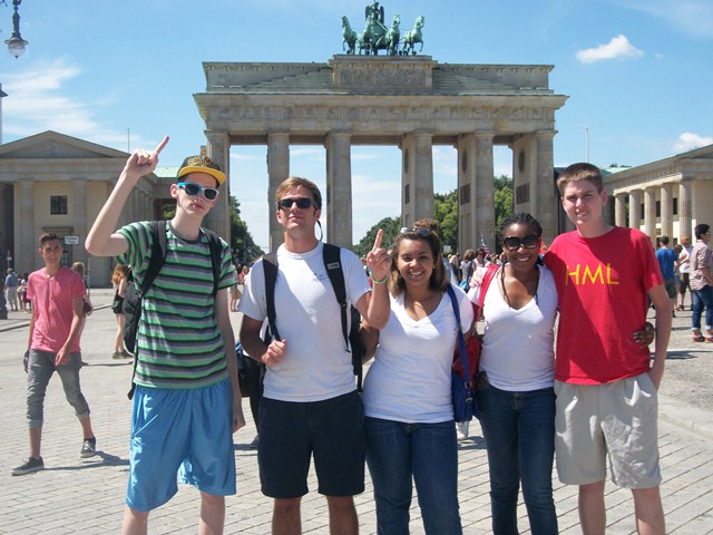 group at Brandenburg Gate