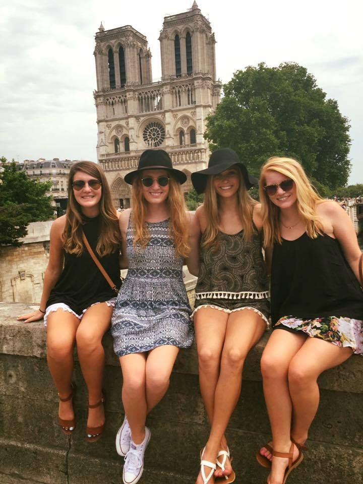 ladies in front of Notre Dame
