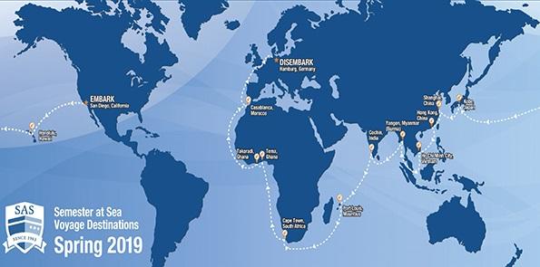 Spring 2019 Voyage Map
