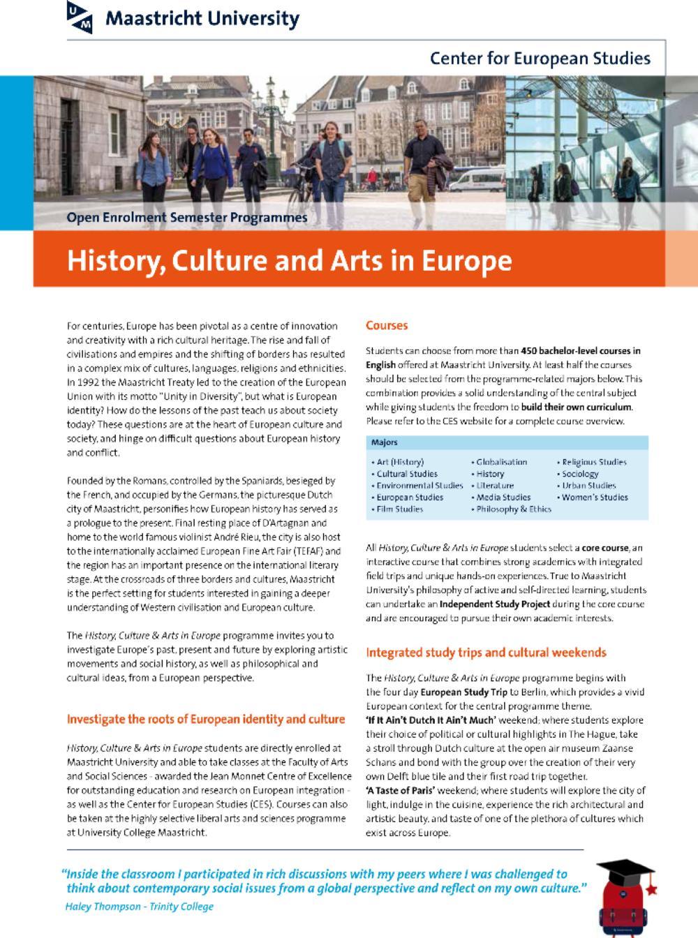 History, Culture & Arts