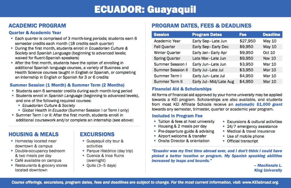 Ecuador Flyer 2018 (Side 2)