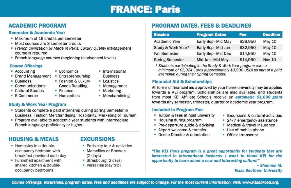 France Flyer 2018 (Side 2)
