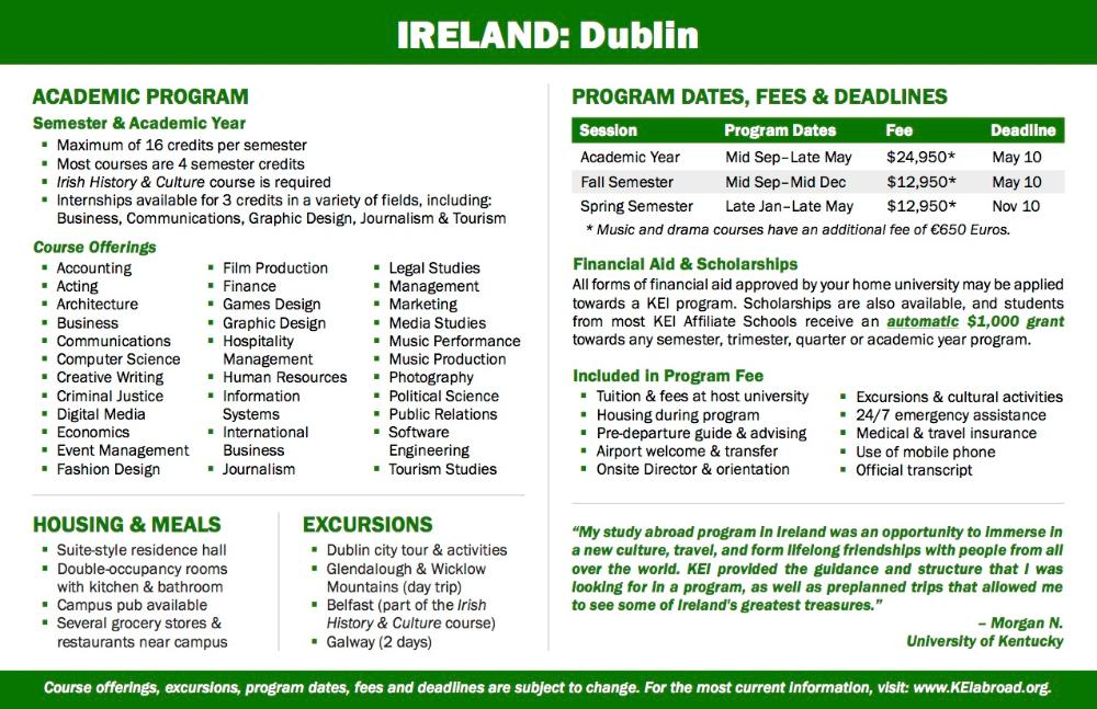 Ireland Flyer 2018 (Side 2)