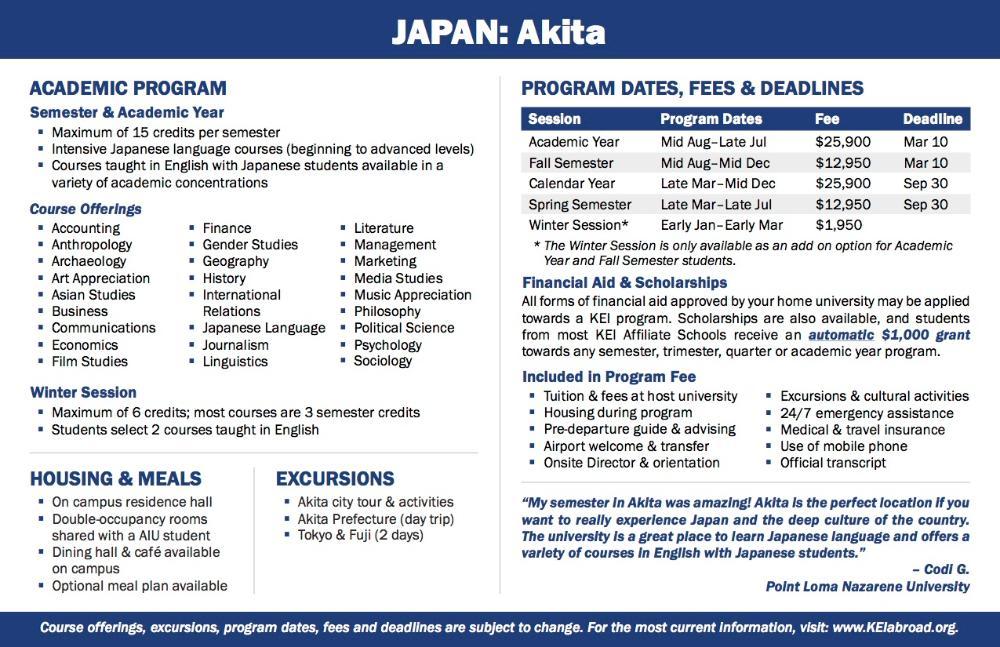 Japan Flyer 2018 (Side 2)