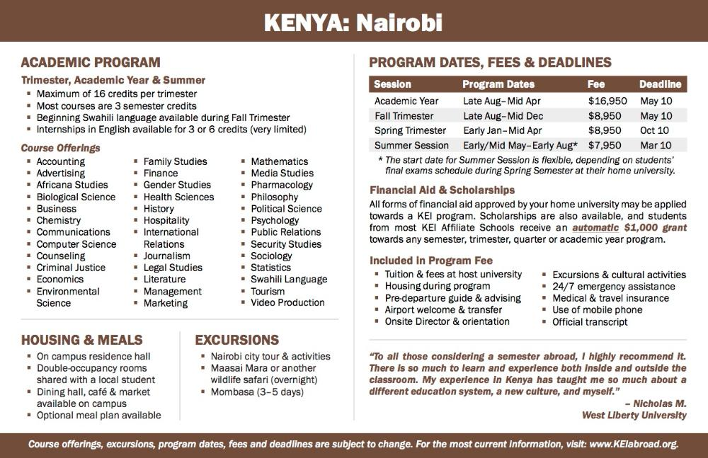 Kenya Flyer 2018 (Side 2)