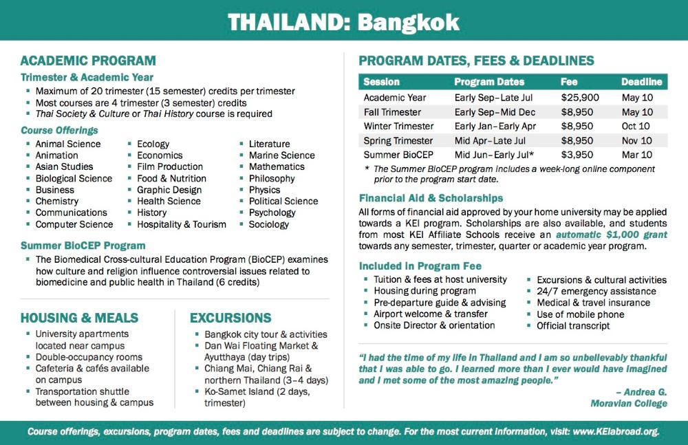 Thailand Flyer 2018 (Side 2)