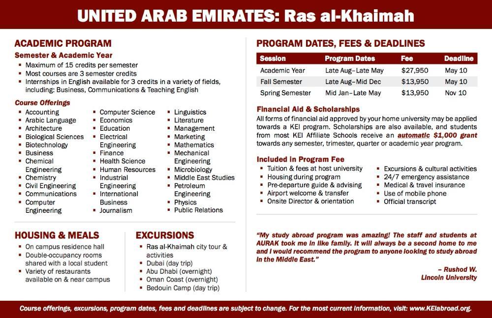UAE Flyer 2018 (Side 2)