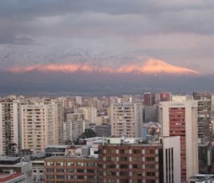 Santiago at sunset