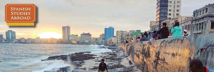Havana sunset ocean