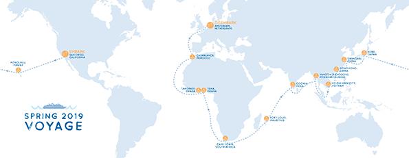Voyage Spring 2019  Map