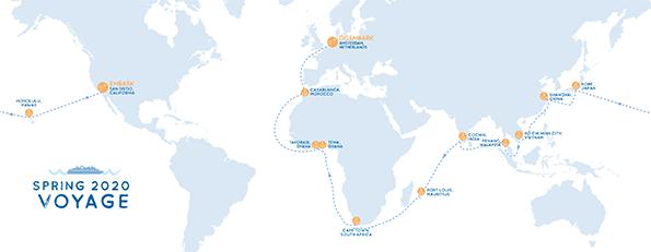 Voyage Spring 2020 Map