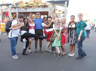 Students celebrating Oktoberfest