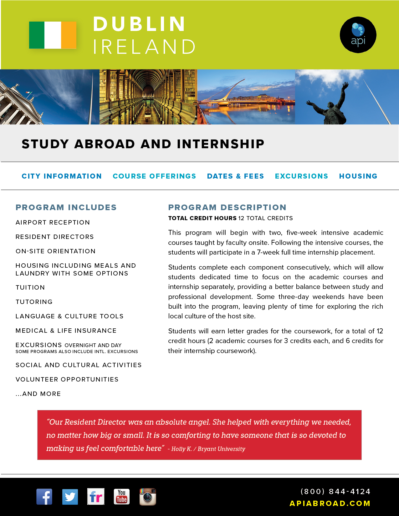 Study Abroad and Intern Dublin