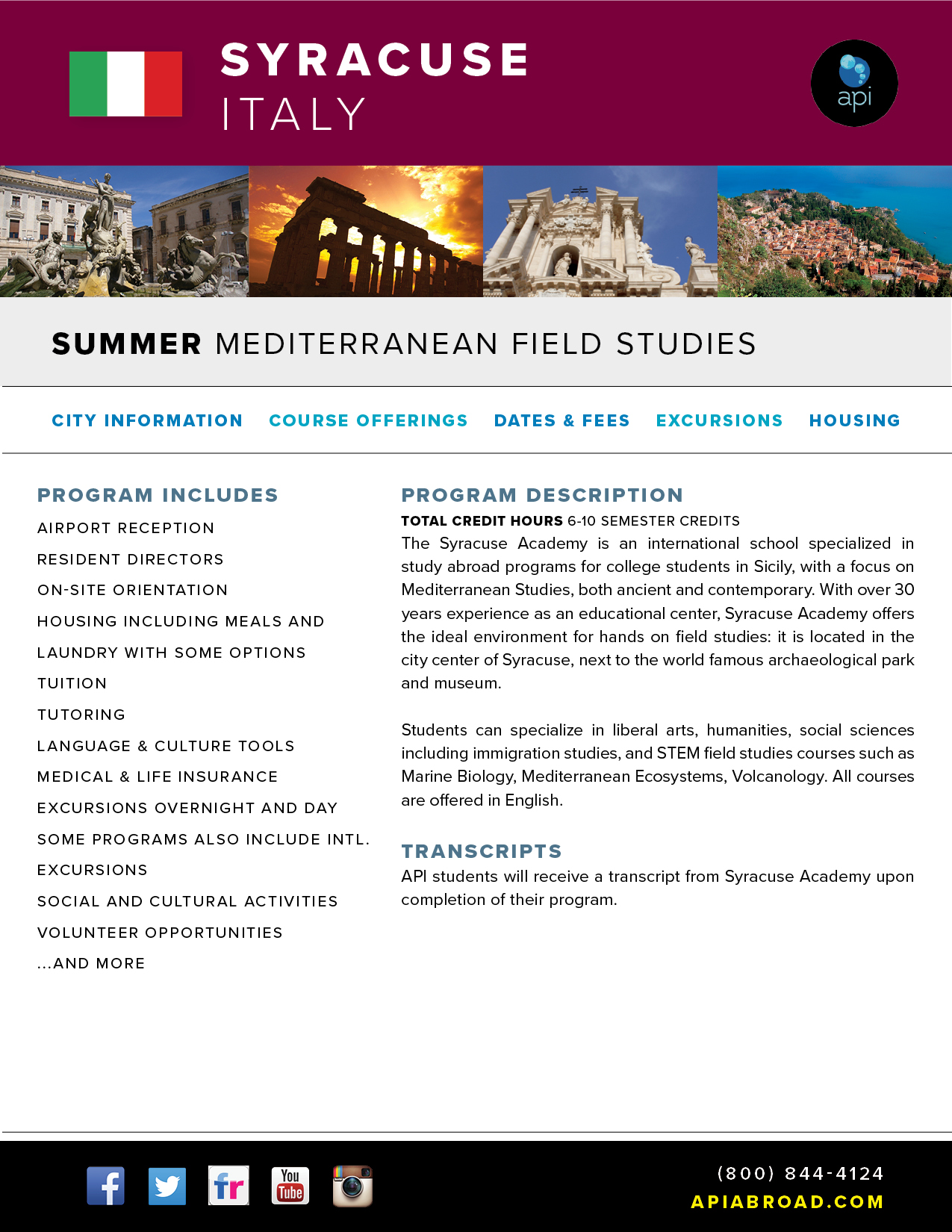 API Study Abroad in Italy