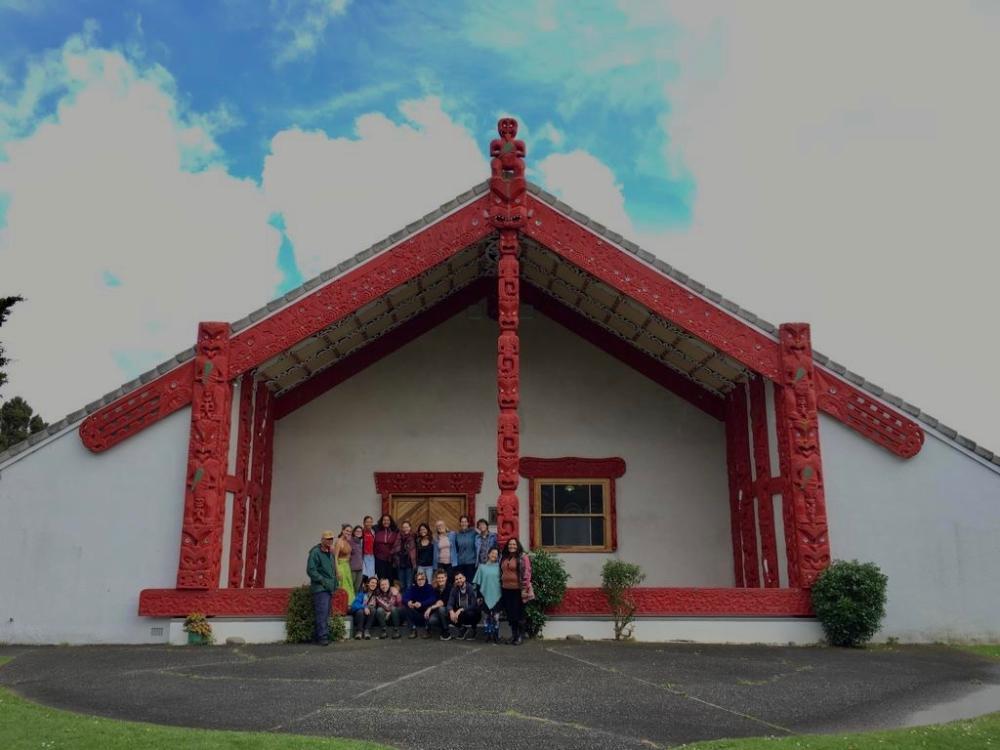 Group photo at Waiwhetu Marae