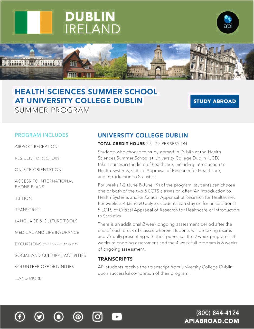 Health Sciences UCD