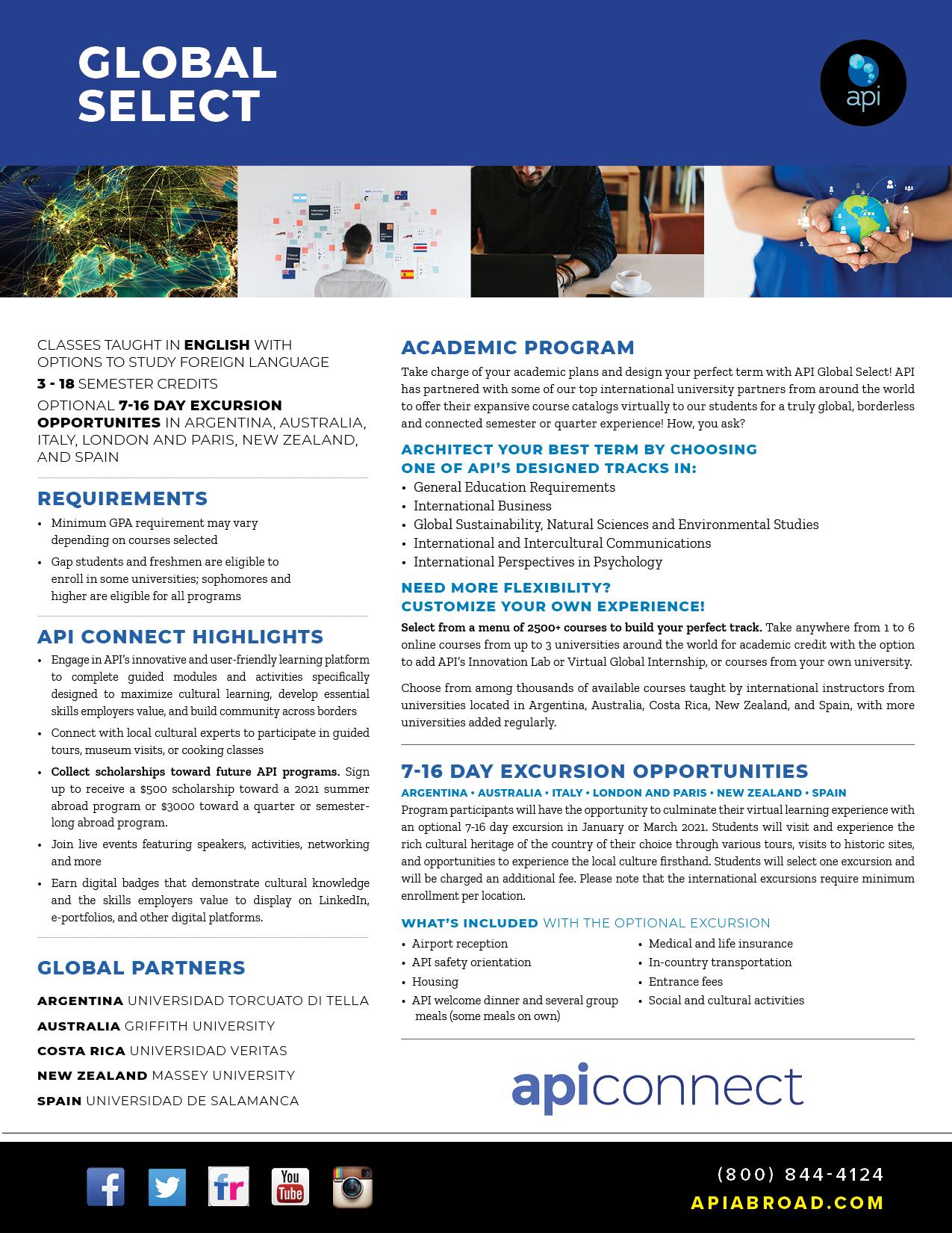 API Global Select Brochure