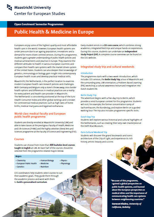 Cover brochure PHME