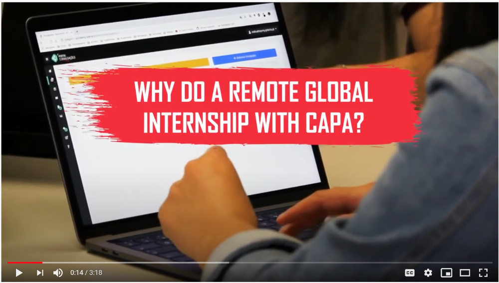 CAPA Remote Internships Video