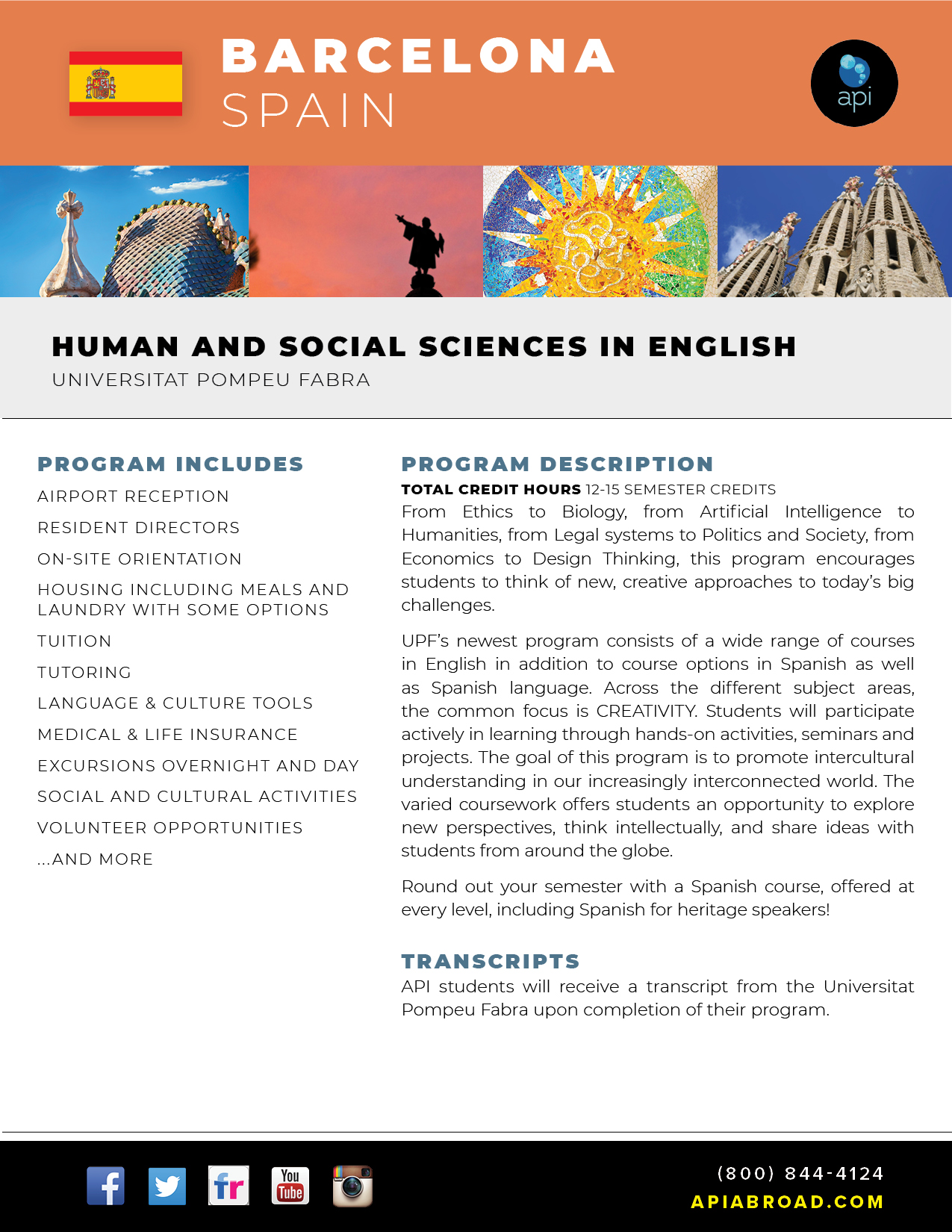 API UPF Barcelona Human and SS