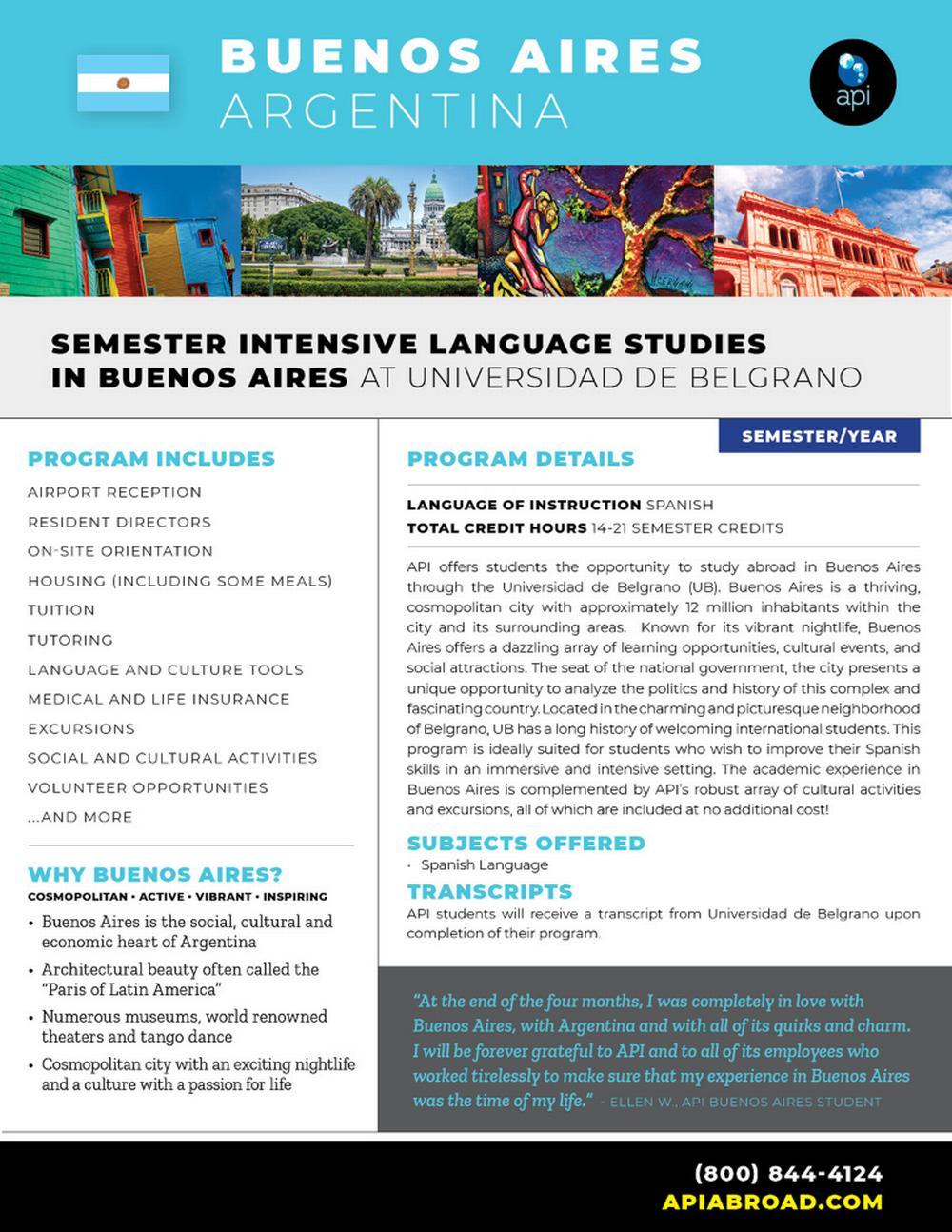 Semester Intensive Spanish lan