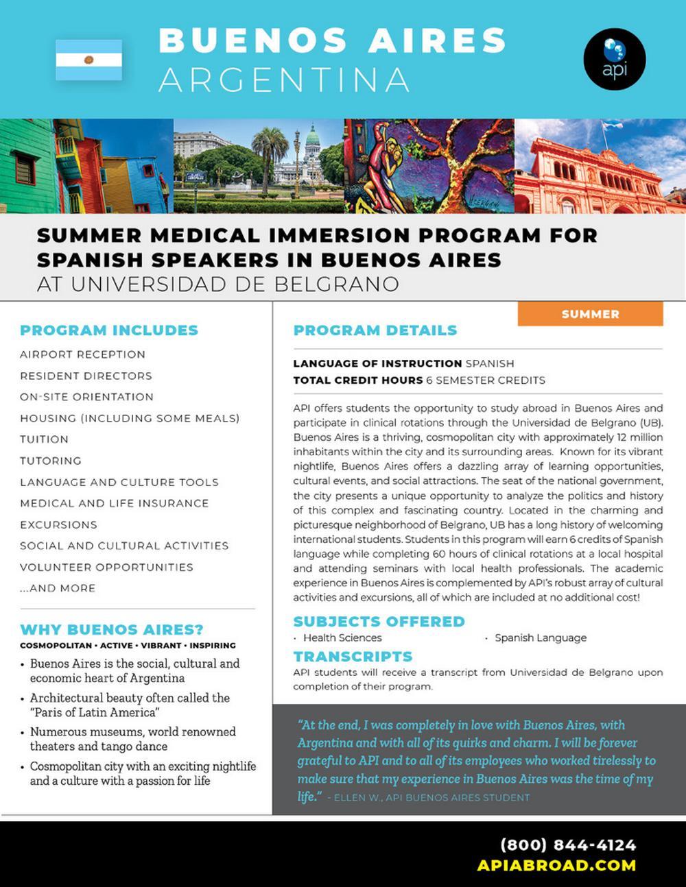 Summer Medical Immersion