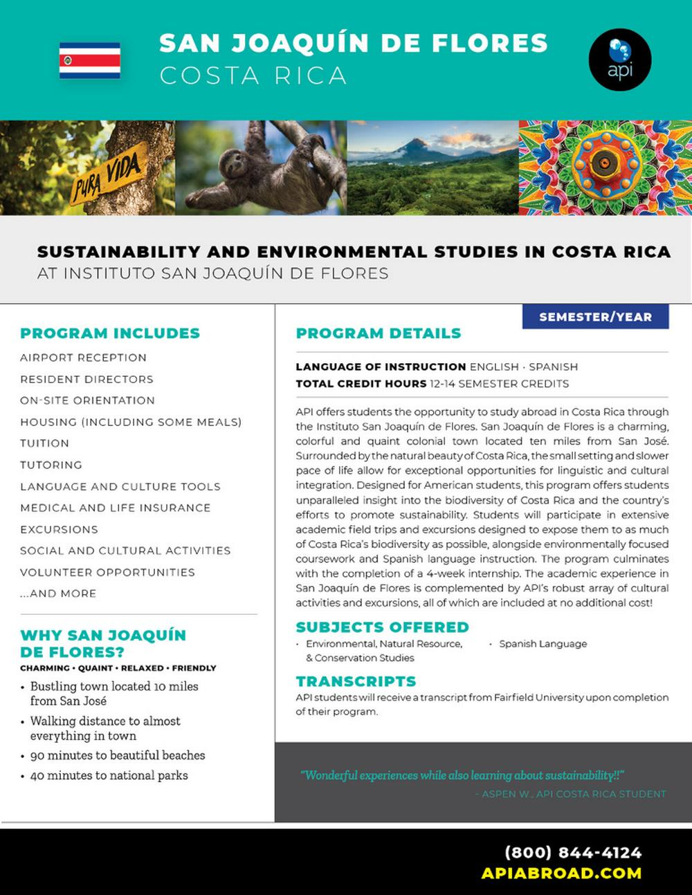 Sustainability and Environment