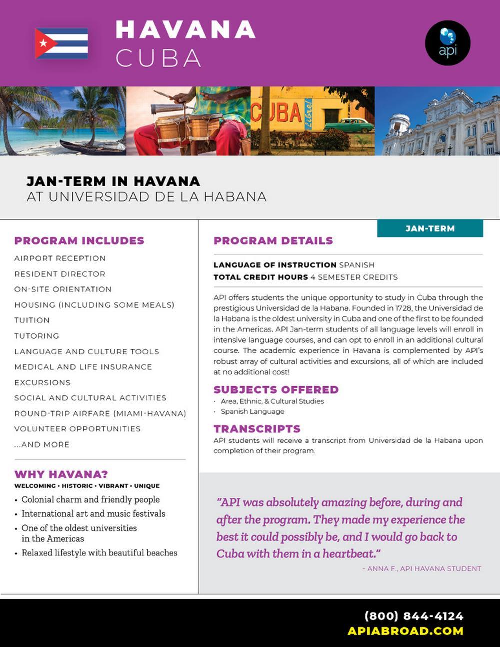 Jan Term Cuba