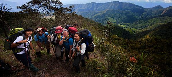 Students at ISDSI hiking