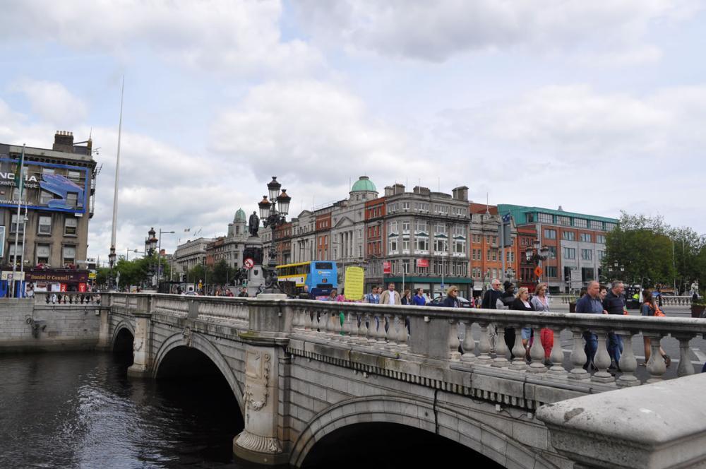 Bridge over a river in Dublin